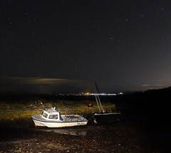 Starry night at Portencross (wheehamx) Tags: starry night portencross long exposure light painting