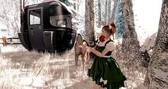 Naughty or Nice (usasenpai) Tags: sl secondlife christmas snow deer animal prank naughty nice lolita dress kancho カンチョー funny