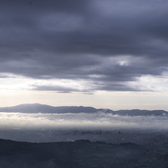 When the fog lifts (Nobusuma) Tags: nikon nikond610 digital nikkor50mmf18g fog mist landscape city sombre italia italy toscana tuscany pistoia hills fall autumn ニコン イタリア トスカーナ ピストイア 霧 丘 街