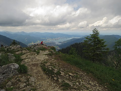 Enjoying the view (aniko e) Tags: hiking summit outdoor summer mountains landscape lake tegernsee rottachegern bavaria bayern germany view pentecost midsummer clouds storm