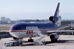 DC10 N68054 FedEx - Los Angeles July 1980 (robert_pittuck) Tags: dc10 n68054 fedex los angeles july 1980