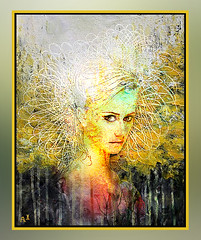 In the forest (andrzejslupsk) Tags: woman portrait andrzej słupsk slupsk face art photo manipulation imi intheforest las