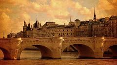 In the heart of Paris...  ༽  ˳♪⁎˚♫ (Mona Zimba) Tags: pontneuf paris iledelacité france bridge story city artistsfree art saariysqualitypictures