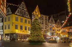 Adventstimmung am Rathausplatz Cochem/Mosel (oblakkurt) Tags: adventstimmungen fachwerkhäuser blauestunde cochem