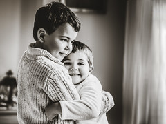 The hug- December challenge (karolinabat) Tags: friends hug blackandwhite friendship emotions joy love protection smile