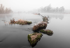 Stepping into the Fog (Dáire Cronin) Tags: fog castleconnell longexposure winter limerick stones steppingstones shannon