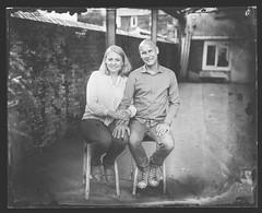 M & I (Attila Pasek (Albums!)) Tags: portrait ambrotype wetplatecollodion couple largeformat collodion 4x5 anniversaryspeedgraphic graflex