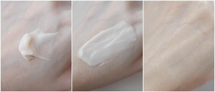 黃金霜(時光金鑰緻顏修護霜)質地是偏濃郁感的乳霜,但很好推開