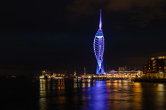 Spinnaker Tower in The Blue ( Explored 03-12-2019) (THE NUTTY PHOTOGRAPHER) Tags: spinnakertower portsmouthharbour portsmouth gunwarfkeys boats marina reflections wetreflections
