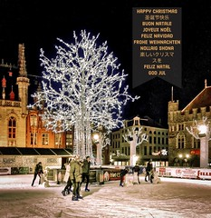 Happy Christmas 2019 (@WineAlchemy1) Tags: happychristmas 圣诞节快乐 buonnatale joyeuxnoël feliznavidad froheweihnachten nollaigshona 楽しいクリスマスを feliznatal godjul skating rink market bruges belgium