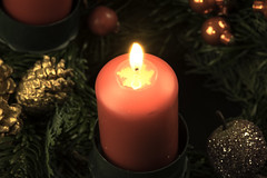 Christmastime Is Near (dietmar-schwanitz) Tags: candle kerze candlelight kerzenlicht romantik fest feierlich advent adventszeit weihnachten christmas adventskranz licht light nikond750 nikonafsmicronikkor105mmf28ged nikon flickr colorefex nikcollection lightroom dietmarschwanitz