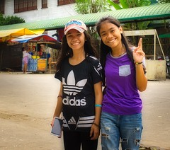 Smiling Girls (Beegee49) Tags: stree street people girls students filipina smiling posing happy sony silay city philippines asia