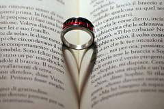 Amore colore del vino (meghimeg) Tags: 2019 genova anello ring libro book cuore heart amore love rosso red rojo rot macromondays