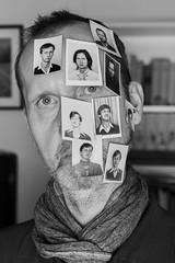Photo sticker (verblickt) Tags: selfie portrait blackandwhite greyscale austria grey photobooth