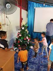 Decorating church Christmas tree 2 (SierraSunrise) Tags: thailand phonphisai nongkhai isaan esarn church christmas tree decorating