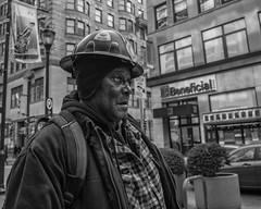 Chestnut Street, 2018 (Alan Barr) Tags: philadelphia 2018 chestnutstreet portrait street sp streetphotography streetphoto blackandwhite bw blackwhite mono monochrome candid city people panasonic gx9