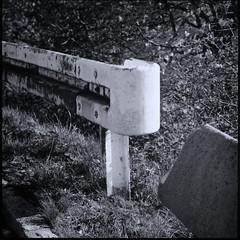 Along the Railroad Tracks (III) (Maximilian Busl) Tags: bayern deutschland hof railroad blackandwhite film analog zeiss germany traffic hasselblad ilford distagon 500cm