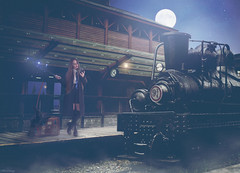 Waiting For The Hogwarts Express (Felicia Brenning) Tags: trainstation station ravenclaw hogwarts harrypotter hogwartsexpress train night moon moonlit moonlight magic magician witch witchcraft wizardry wand spell photomanipulation manipulation photoshop photographyart art artsy conceptual conceptualphotography conceptualportrait conceptualportraiture surreal surrealism surrealphotography surreality selfie selfportrait selfportraiture fantasy fantasyphotography fantasyportrait fairytalephotography fairytale fineart fineartphotography inspiration imagination imaginative dreamy dream nikon nikond5600 nikonphotography feliciabrenning flickr