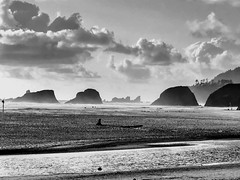 Windy day at the beach (World-viewer) Tags: flickrtravelaward flickraward award windy mist ocean pacific coastline coast seascape plus iphone8plus iphone8 mobile iphone mbpictures nationalgeographic ngc supershot nice pretty amazing oregon cannonbeach beautiful monochrome mono bw blackandwhite landscape fog clouds beach explore wander travel