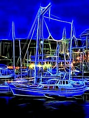 St. Elmo's Fire... (Nick Kenrick.) Tags: blue yacht