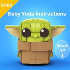 Baby Yoda_ flickr (legotruman) Tags: legomoc legoart lego afol legostarwars brickheadz legography madalorian babyyoda yoda legogram brickcentral