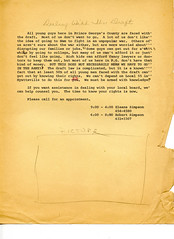 Draft Prince Georges draft counselor flyer: 1968 (Washington Area Spark) Tags: draft selective service conscription law rights options robert bob simpson eleana prince georges county vietnam war 1968 circa