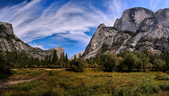 Yosemite Meadows (lfeng1014) Tags: yosemitemeadows yosemitenationalpark yosemite meadows mountwatkins ahwiyahpoint halfdome panorama landscape canon5dmarkiii ef2470mmf28liiusm mountains clouds california usa travel lifeng