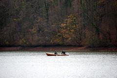 Activitate pe lac (Dumby) Tags: landscape ilfov românia lake boat nature autumn fall
