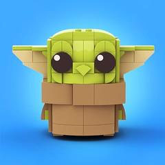 Baby Yoda 1 (legotruman) Tags: lego legomoc afol legostarwars babyyoda yoda mandalorian brickheadz legoart legogram legography