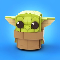 Baby Yoda (legotruman) Tags: legoart legomoc afol legostarwars babyyoda mandalorian starwars brickheadz