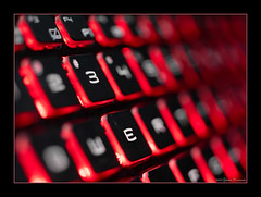 3E in Red (GAPHIKER) Tags: macromonday red light lighted keyboard 3 e 3e 55mmmicronikkorf28 macro