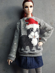 Xmas Sweater (Levitation_inc.) Tags: ooak doll dolls clothes handmade sweater ugly xmas christmas winter pullover pulli sweatshirt 2019 nuface lilith grey casual levitation levitationfashion