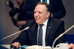 Premier/premier ministre Legault at the COF meeting/à la rencontre du CDF
