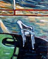Lonely chair (The Big Jiggety) Tags: chair chaise silla oil canvas huile toile oleo tela art arte kunst