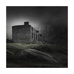 Graft ! (Nick green2012) Tags: wales quarry minimal slate landscape monochrome silence square