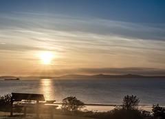Sunset bench...xx (shona.2) Tags: nature gullane scotland beach sunset happybenchmonday hbm monday bench