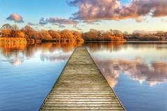 Horizon ❤ (LeanneHall3 :-)) Tags: groupenuagesetciel skyscape bridge hornseamere mere trees branches leaves landscape