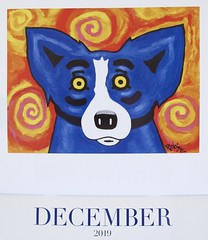 December! (Bennilover) Tags: calendar calendars christmas december bluedog famous louisiana symbol scared funny