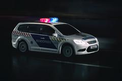 Ford Focus MK2 facelift (szadvari.laszlo) Tags: police policecar car bburago focus ford fordfocus rendőr rendőrség photo postproduction nikon model modell miniature
