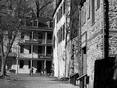 Downtown Harper's Ferry (pilechko) Tags: harpersferry westvirginia blackandwhite monochrome wv shadows winter