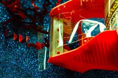 "Macro Mondays: ""Red"" (Hayseed52) Tags: macromondays red tape tapedispenser holidays sparkle confetti"