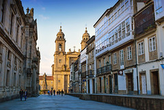 Santiago de Compostela (Jocelyn777) Tags: architecture buildings cathedral streets cities towns towncentres sky santiagodecompostela galicia spain travel