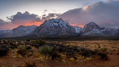 Red Rock Loop (Aaron_Smith_Wolfe_Photography) Tags: landscape redrock nevada conservation 1430 nikon z7 snow mountains cactus glow reds panorama lasvegas sunset clouds