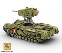 Churchill MK IV Version 1 (BuildArmy) Tags: churchill tank ww2 lego buildarmy brick moc legomoc worldwar2 british infantry
