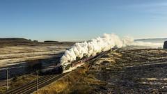 Hard Working Santa (4486Merlin) Tags: england europe cumbria railways 35018 exsr britishindialine unitedkingdom transport steam shap wcml srmerchantnavyclass santaspecial wcrc