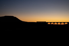Head of the Ribble (Andrew Shenton) Tags: 1z10 ribble ribblehead northern ingleborough viaduct 2h93 golden sunset hour