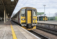 Photo of Croeso i Gymru*: ex-Greater Anglia class 153s at Cardiff Central