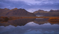 Mirror (darek_gruszka) Tags: iceland october sky clouds sunset reflection surface mountains south lake water glacier nikon lee filter manfrotto