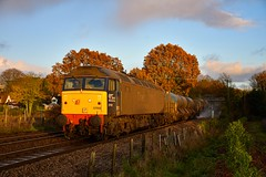 57002 t&t 57003 - Brundall Gardens - 29/11/19. (TRphotography04) Tags: direct rail services drs 57002 express 57003 pass brundall gardens 3s01 0922 stowmarket dgl anglia rhtt circular