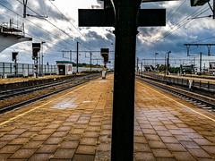 Mechelen Railway Station I (CloudBuster) Tags: malines mechlin mechelen belgium belgië la belgique railway station treinstation public transport openbaar vervoer nmbs perron platform spoor wachten waiting trein treinen tijd time